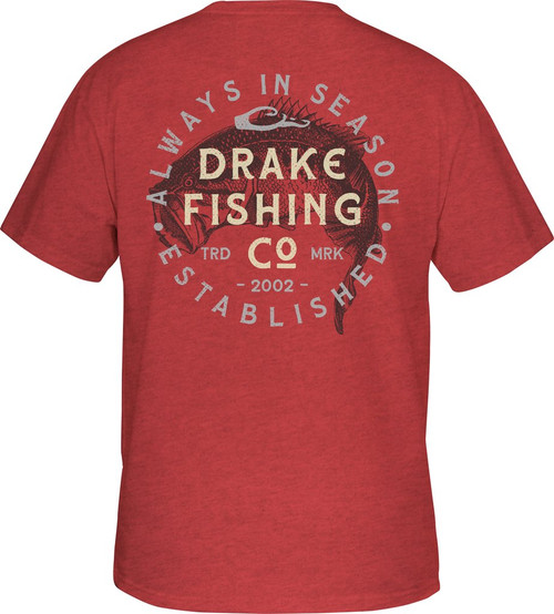 Drake Vintage Bass T S/S Red Heather