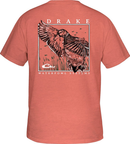 Drake Cupped Up Tee S/S Salmon Heather