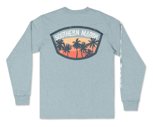 Southern Marsh Fading Fast Washed Moss Blue LS