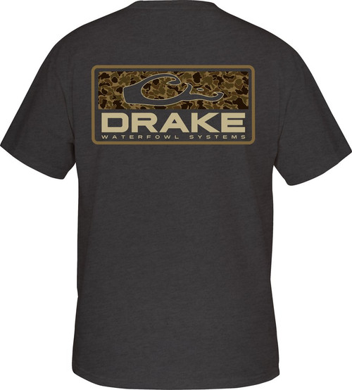 Drake Old School Bar Tee S/S Charcoal Heather