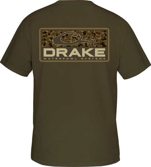 Drake Old School Bar Tee S/S Army Green