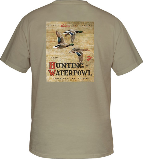 Drake Hunting Waterfowl Tee S/S Sandstone