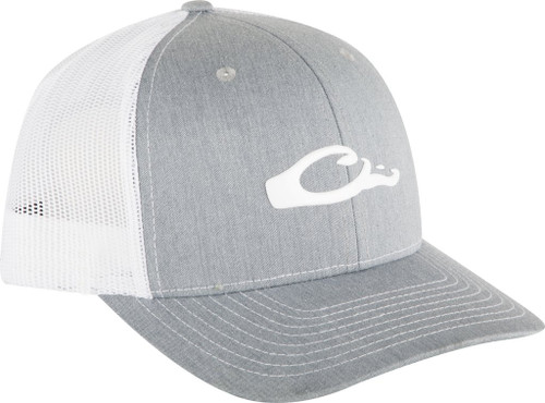 Drake 6-Panel Slick Logo Cap Heather Grey/White OSFM