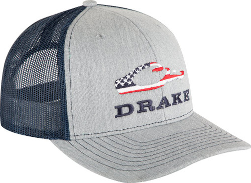 Drake Americana Cap Heather Grey/Navy OSFM