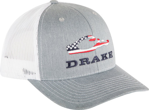 Drake Americana Cap Heather Grey/White OSFM