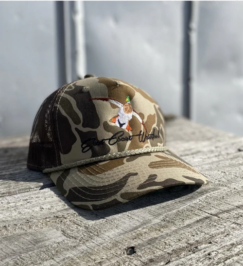East Coast Waterfowl Old School Camo Mallard Snap Back Hat