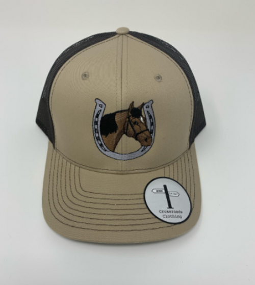 Crossroads Clothing Horse Khaki/Brown Hat