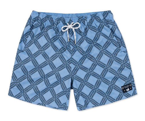 Southern Marsh Dockside Swim Trunk Rope Chambray Blue/Navy