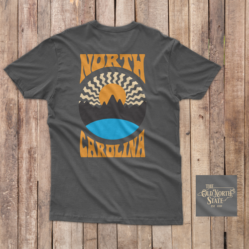 The Old North State - NC Sunset Retro