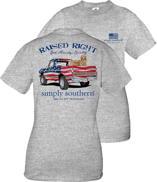Simply Southern Unisex Truck Heather Grey YOUTH