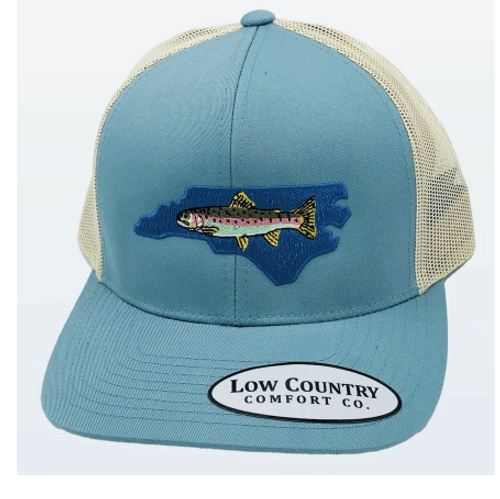 Low Country NC Trout Rainbow Smoke Blue/Beige Hat