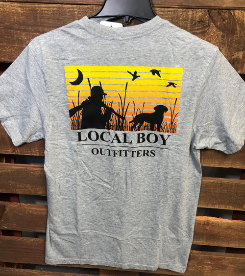 Local Boy Outfitters Spotted Oxford Gray