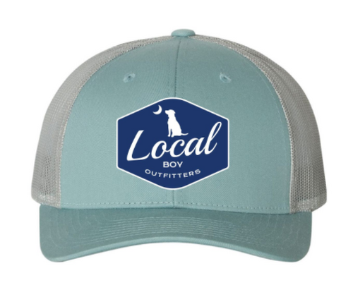 Local Boy Outfitters Badge Trucker Smoke Blue/Aluminum Hat