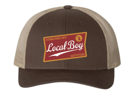 Local Boy Outfitters High Life Trucker Brown/Khaki Hat