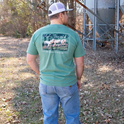 Old South Apparel Pigs Light Green