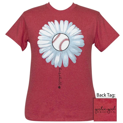 Girlie Girl Originals Baseball Daisy Heather Red