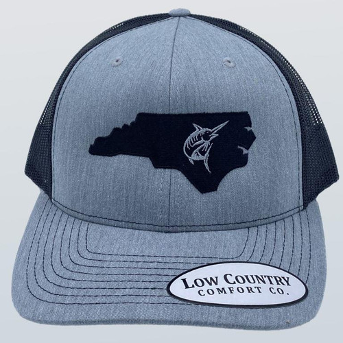 Low Country NC Marlin Heather Grey/Black Hat