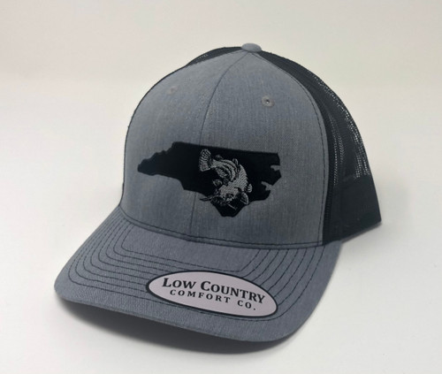 Low Country NC Catfish Heather Grey/Black Hat