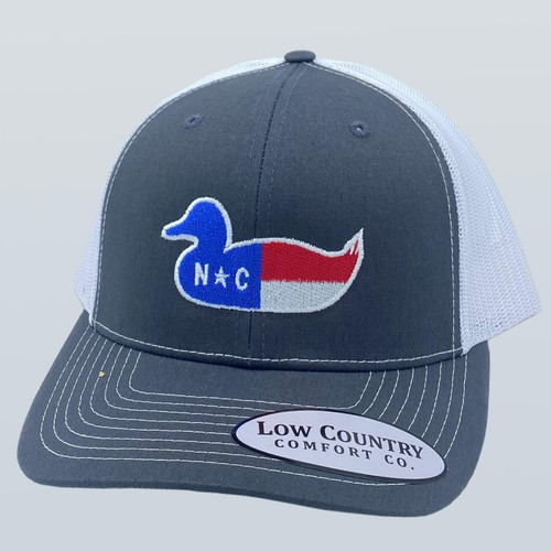 Low Country NC Duck Decoy Charcoal/White Hat