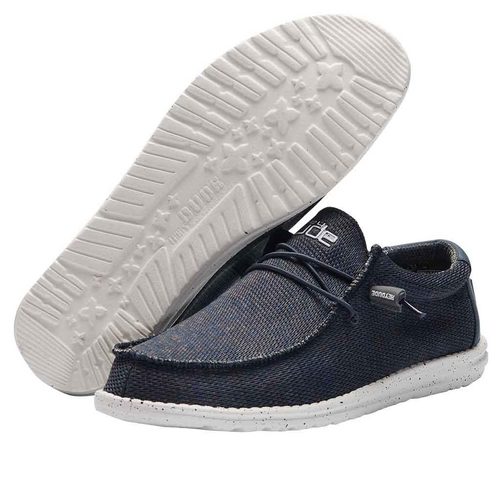 Hey Dude Wally Sox Navy Grey