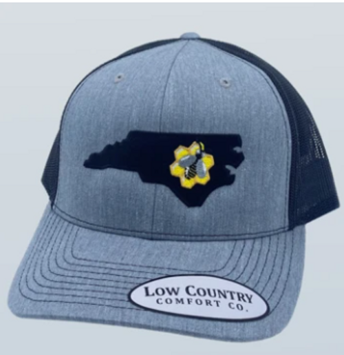 Low Country NC Honey Bee Heather Grey/Black Hat