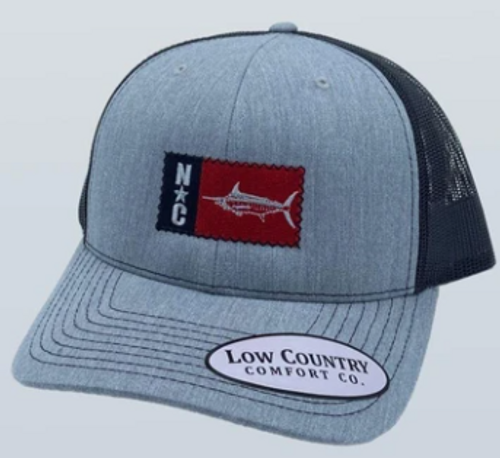 Low Country NC Marlin Patch Heather Grey/Black Hat