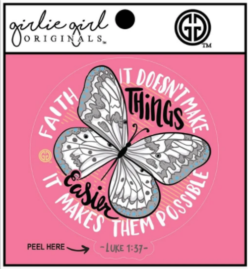 Girlie Girl Originals Faith Butterfly Decal/Sticker
