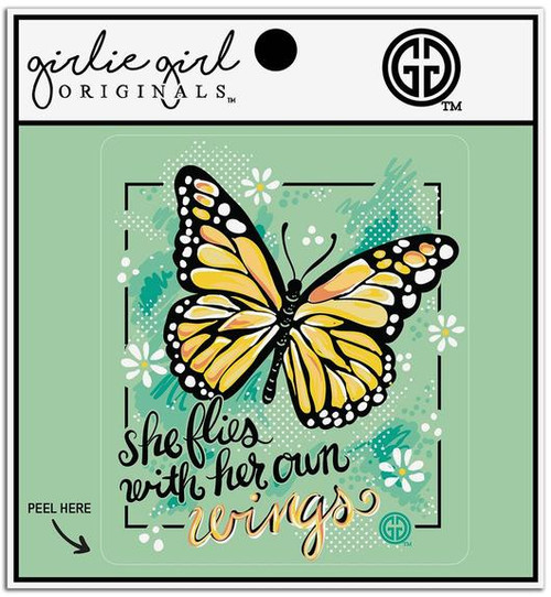 Girlie Girl Originals Her Own Wings Decal/Sticker