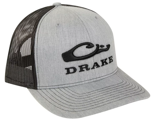 Drake Mesh Back Cap Heather Grey/Black OSFM