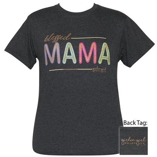 Girlie Girl Originals Blessed Mama Glitter Black Heather