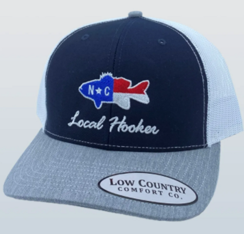 Low Country NC Flag Bass Heather/Navy/White Hat