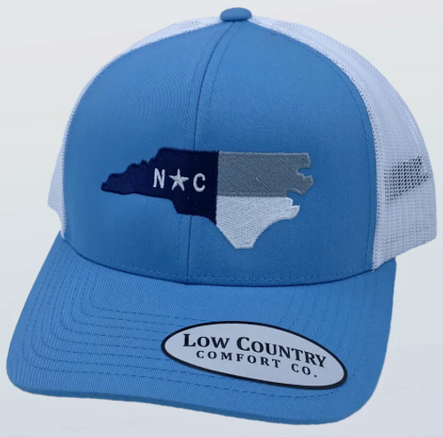Low Country NC Flag UNC Columbia/White Hat