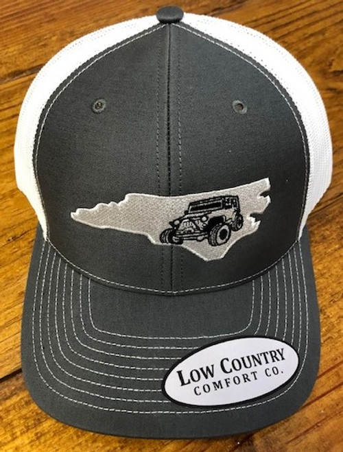 Low Country NC Jeep Charcoal/White Hat