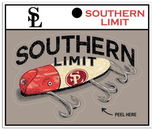 Southern Limit Fishing Bait Decal