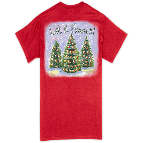 Southern Couture Let It Snow Red SS