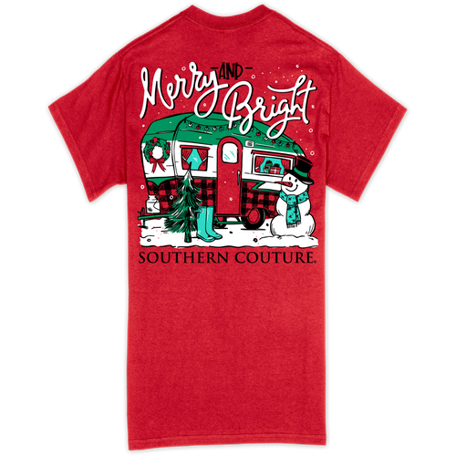 Southern Couture Merry & Bright Camper Red SS