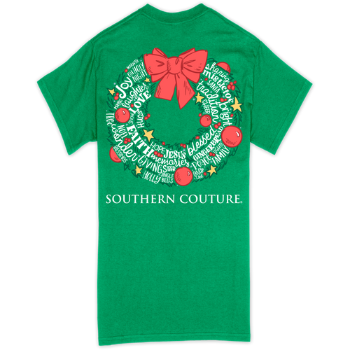 Southern Couture Christmas Wreath Irish Green SS