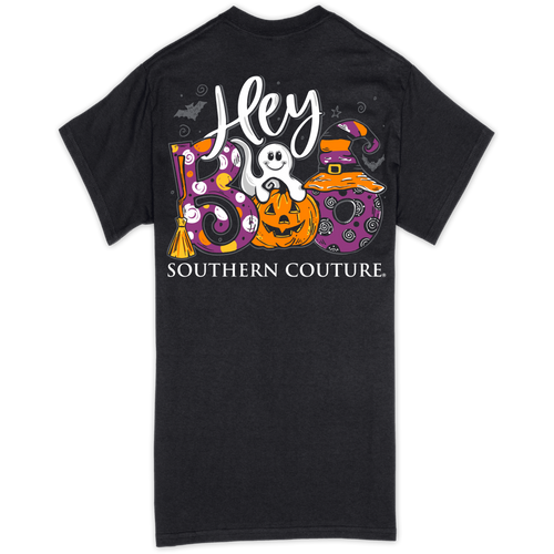 Southern Couture Hey Boo Black SS