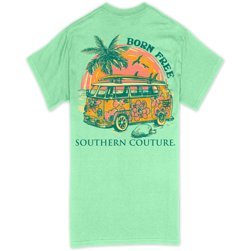 Southern Couture Born Free Mint Green SS