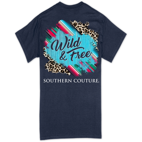 Southern Couture Wild & Free Navy SS