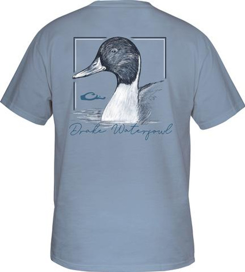 Drake Pintail T Dusty Blue S/S