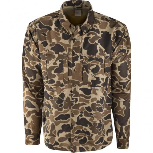 Drake Camo Wingshooter's Old School L/S Shirt