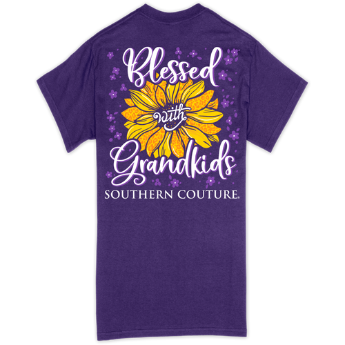 Southern Couture Blessed With Grandkids Purple SS