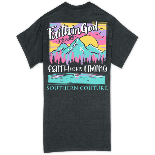 Southern Couture Faith in God Dark Heather SS