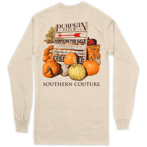 Southern Couture Pumpkin Patch Natural LS