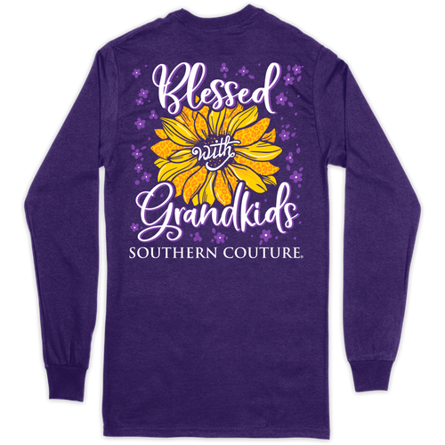 Southern Couture Blessed With Grandkids Purple LS