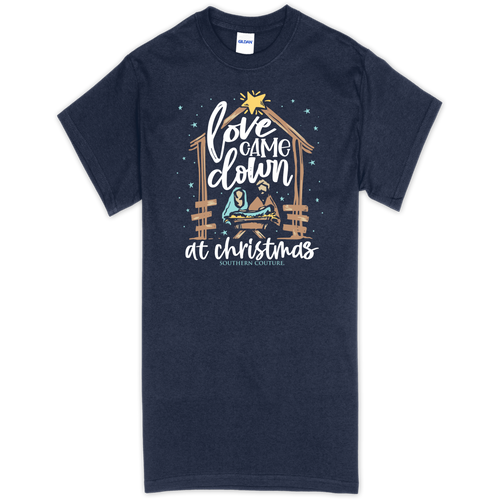Southern Couture Love Came Down Navy SS