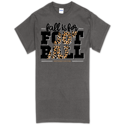 Southern Couture Fall Is For Football Charcoal SS