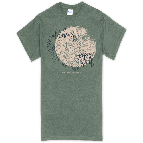 Southern Couture Gypsy Soul Heather Military Green SS