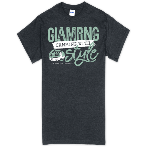 Southern Couture Glamping Camping Heather Navy SS